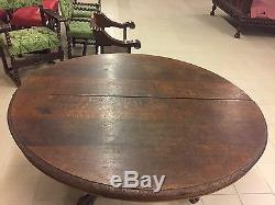 Great Room Table Pedestal Table Dining Henry II Style Oak