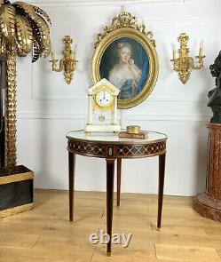 Gueridon De Style Louis XVI Awarded To André Mailfert With Dessus Marble