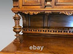 Henry II Renaissance Walnut Style Castle Buffet 1900