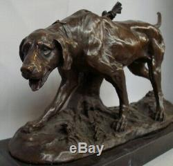 Hunting Dog Statue Art Deco Style Art Nouveau Bronze Massive Sign