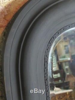Ice / Louis Philippe Mirror Matt Black Wood 138 X 110 CM