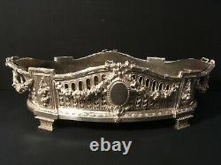 Important Solid Silver Planter Louis XVI Goldsmith L Lapar Minerve 950