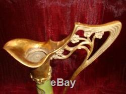 Jug Jug Iris Flower Art Deco Style Art Nouveau Porcelain Bronze