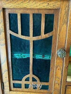 Lady Art Nouveau Office Circa 1900, Oak, Locksmith-bovy Style