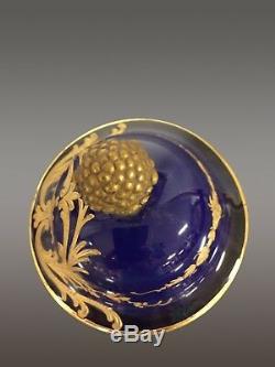 Large Earthenware Vase Sèvres 1900s Art Nouveau