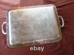 Large Tray Gallia Christofle, Louis XVI Style, Silver Metal, L53cmxl 33cm