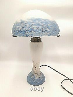 Light Mushroom Glass Paste Style Art Nouveau Déco Dlg Muller Gallé Degué
