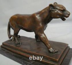 Lion Lion Statue Style Art Deco Art Nouveau Massive Bronze Sign