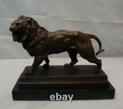 Lion Style Art Deco Style Art Nouveau Massive Bronze Sign