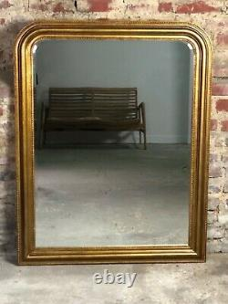 Louis Philippe Style Glass / Mirror In Bronze Patinated Gold 121 X 95 CM