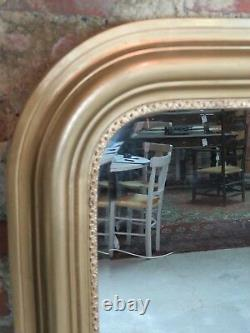 Louis Philippe-style Glass/mirror In Gilded Wood 138 X 110 CM