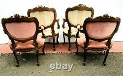 Louis XV Style Lounge Furniture Four Chairs Two Chairs Two Benches