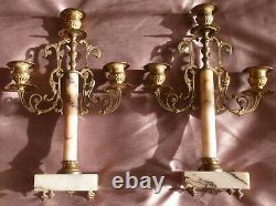 Louis XVI Flambeau-style Fireplace Trim - Bronze Quiver - Marble