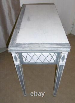 Louis XVI Style Game Table Skating Grey And White With Tray Turning
