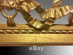 Louis XVI Style Gilt Mirror Pediment Tape
