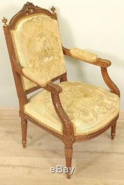 Louis Xvi-style Armchairs Tapestry Small Point