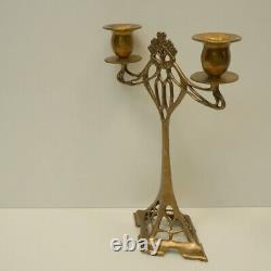Massive Art Deco Style Art Nouveau Style Candlestick