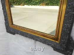 Mirror And Frame Wood Old Style Louis Philippe Period Art Nouveau Design 1900