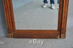 Mirror Carved Oak 1900 Art Nouveau