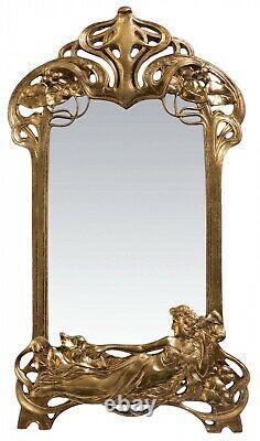 Mirror Make-up Table Mirror Art Nouveau Antique Style 50cm A