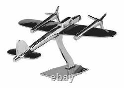Módel D Aircraft Aircraft Model Antique Style Silver Art Decoration 47cm