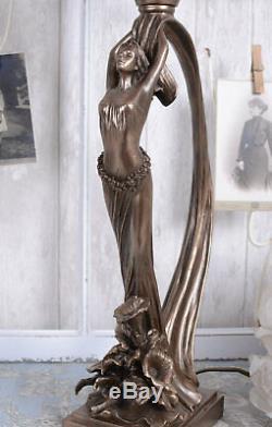 Office Art Nouveau Lamp Table Lamp Secession Style Woman New Sculpture