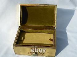 Old Box A Jewelry Period 1900 Art Nouveau Style Laiton Ecrin Box Lock
