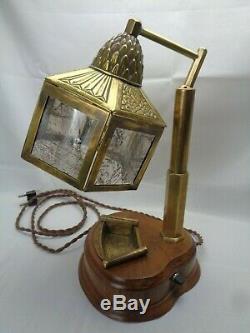 Old Desk Lamp Majorelle Art Nouveau Art Deco Years 1910 1920