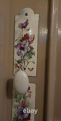 Old Enamelled Cleanliness Plates Decorated With C. Klein-style Anemon Flowers