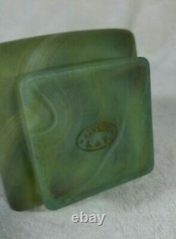 Old Glass Vase S-vres L-f Style Hard Stone Jade Art-new Late 19th Century