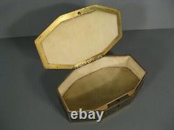 Old Jewelry Box Brass Style Louis XVI Epoque Art Nouveau Décor Houx