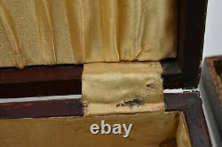 Old Jewelry Box Wood And Lucite Or Bakelite England Victorian Style