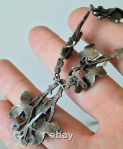 Old Metal Or Silver Necklace (no Punch) Art Nouveau Style