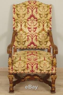 Pair Of Armchairs Great Apparat Louis XIV Style
