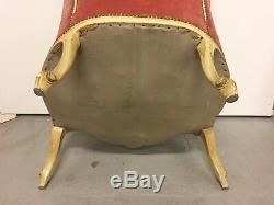 Pair Of Easy Chairs Painted Louis XV Rococo 1900s