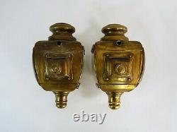 Pair Of Electric Brass Car Lanterns Nirona 28 Style Louis XV