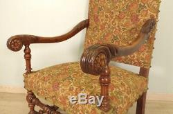 Pair Of Louis XIII Style Armchairs Walnut