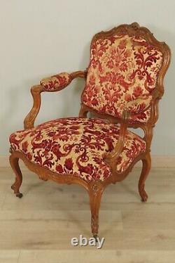 Pair Of Louis XV Style Flat Back Armchairs