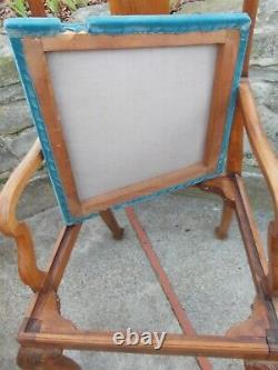 Pair Of Old Mahogany-style Chippendale Armchairs