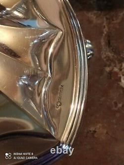 Pair Of Silver Metal Candlesticks Art Nouveau Style