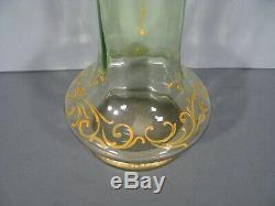 Pair Of Vases Veterans Enameled Glass Art Nouveau Montjoye Legras