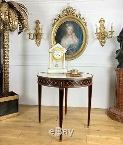 Pedestal Louis XVI Style In Le Gout De André Mailfert Marble Top