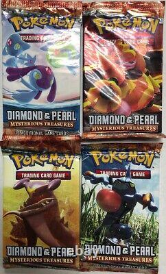Pokémon Mysterious Treasures Booster Pack Lot Of 4, All 4 Art Styles Tcg Ccg