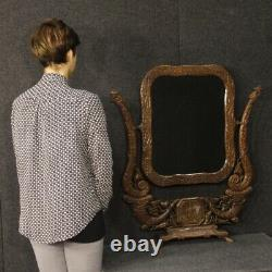 Psych French Wooden Mirror Antique Style Art Nouveau 900 20th Century