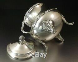 Puiforcat Sugar Covered Louis XVI Style Silver Solid Debut XX Century