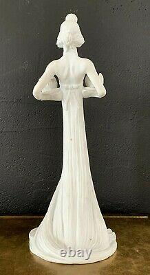 Rare Art Nouveau Candlestick In Biscuit Signed Gurschner-guimard-flamand Style