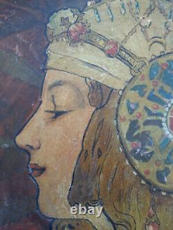 Rare Former Grand Plat Art New Mucha Tetes Byzantines Young Woman