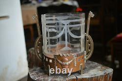 Refresher Copper Brass Glass Style Jugendstil Art Nouveau Height 16cm