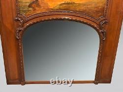 Regency-style Trumeau Mirror In The Taste Of Lacroix De Marseille