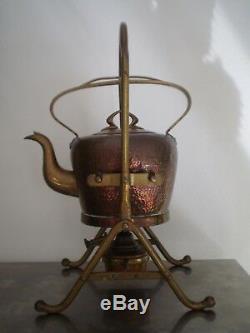 Samovar Old Copper And Brass Bing Bgn Art Nouveau Style 1900 Modern Teapot